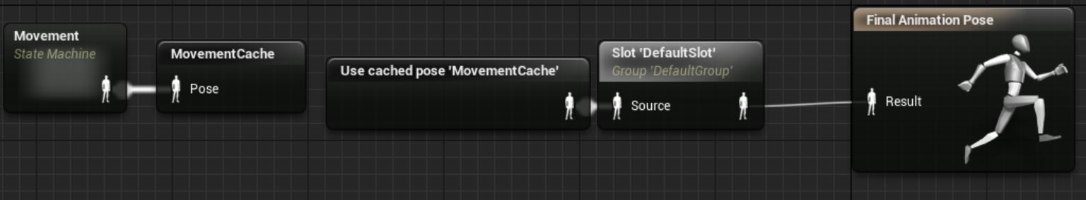 Call 'Use cached pose 'MovementCache'' because Anim Graph nodes can only ever output to one place