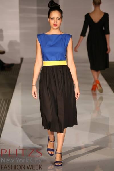 www.Plitzs.com/nycfashionweek Designer:Anna Oels-Lindell,GreenBlackDress Shoes:LLXLLQby Daniele Ancarani ModelVanesa Cristina Rodriguez
