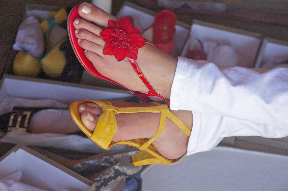 LLXLLQ Sandals Betty (yellow) and Savannah (red)