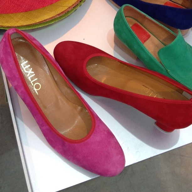 @llxllq shoes spotted at Dantone Milano, 1784 Union Street, San Francisco. LLXLLQ Edie Pink and Red - one of our best sellers - colors that pop, and comfort that is striking. #shoes #sanfrancisco #shopping #largersizes #diversity