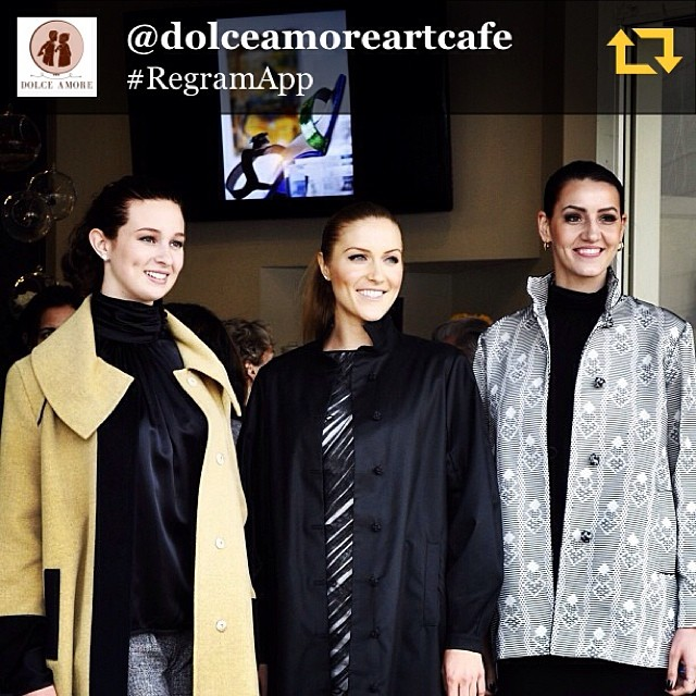 LLXLLQ shoe by Daniele Ancarani featured on screen. www.llxllq.com RG @dolceamoreartcafe: #Models at our store front showcasing @michaelboris high-end designer clothing paired with @llxllq shoes.