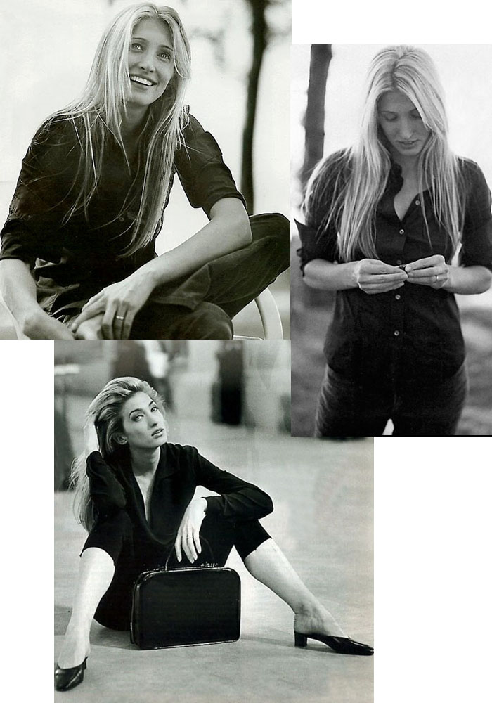 Carolyn Bessette Kennedy Style Black & White Vanity Fair Photos