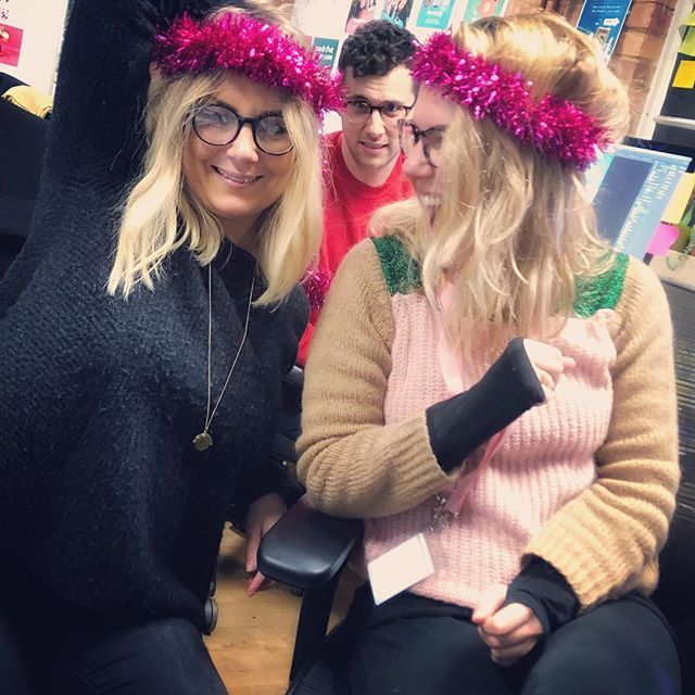 Festive giggles with these fruit loops 🍉🍌🍇🍓🍋 @gemmadowler @stopstrutting @phil_dudman