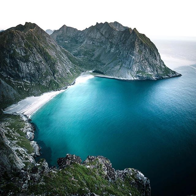 Just discovered this spot and I'm going to go hiking here in the New Year - who's in?!? #Norway #kvalvikabeach Regram from @einarroy
