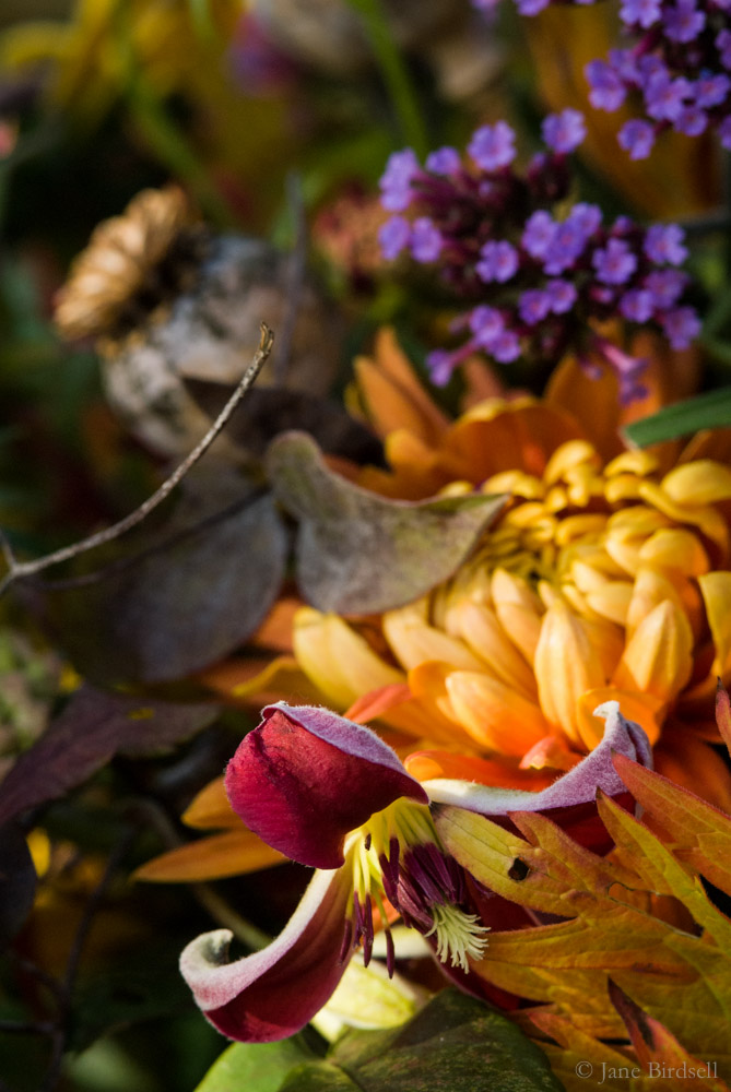 November vase: vertical