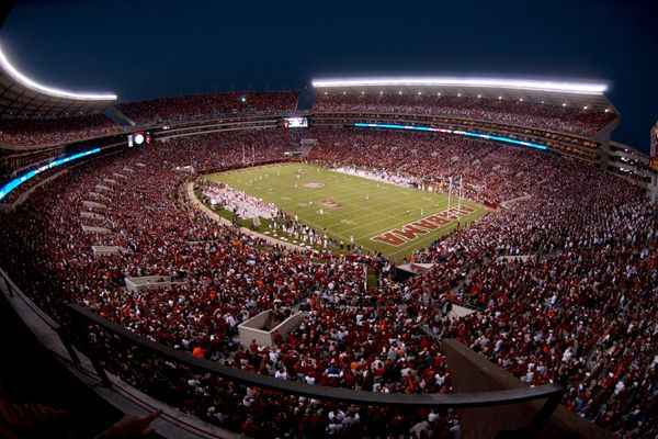 Bryant Denny Stadium at Night during the 2006 Iron Bowl
