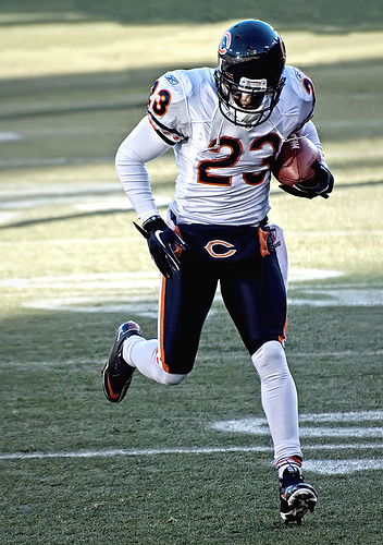 Devin Hester is back to his original position and is poised to play a big spot in the return game. © Mike Morbick used under a CC BY-SA 2.0 license at http://www.flickr.com/photos/mikemorbeck/5483945352/in/photolist-9mADTW-9crFMN-7P7p2T-7y3BgE/
