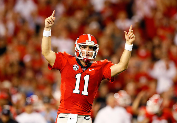 Aaron Murray still has time celebrate with the Dawgs his senior year. He will have a chance to do this in NFL stadiums a year from now. © Sports Dawg at