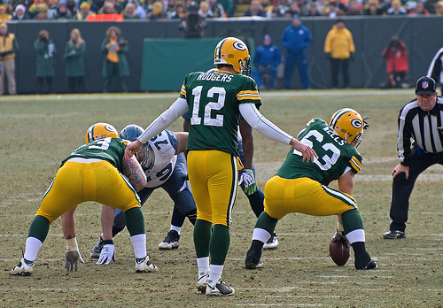 Murray isn't on Aaron Rodgers' level, but he sure looks like him at times. © Mike Morbeck used under CC BY-SA 2.0 at