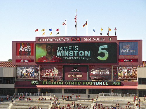 Jameis Winston has been the man in Tallahassee. He has a chance to lead the Seminoles to a national title. © Stab at Sleep used under CC BY-SA 2.0