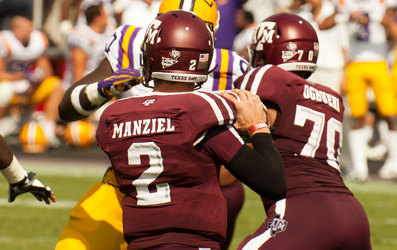 Johnny Football has put up better number than last year and has a chance to win back to back Heisman Trophies. © Shutterbug459