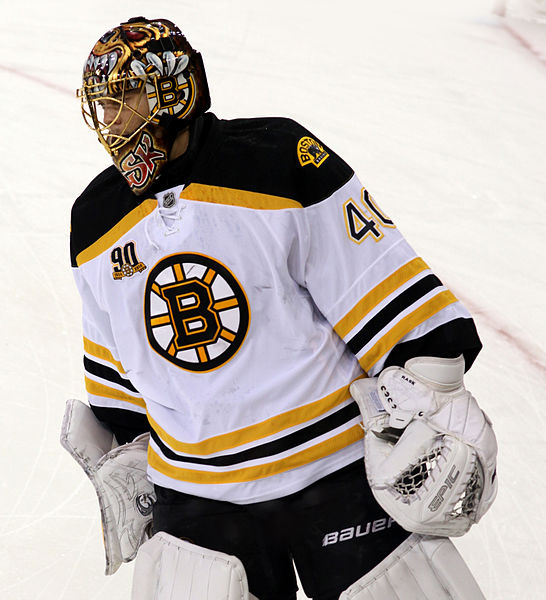 Tuukka Rask has been the man for Boston. It will be a tough task to get anything by #40. ©Lisa Gansky