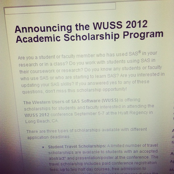 The WUSS scholarships