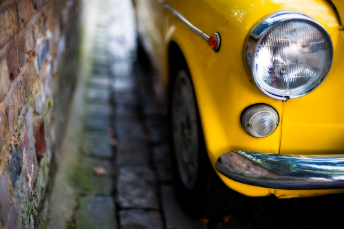 pri-amble: becauseitmakesmesmile: five-two-three-six hit-or-miss: poignant:the yellow car (by alǝx) Reminds me of Kolkata cabs… just alighted from one!