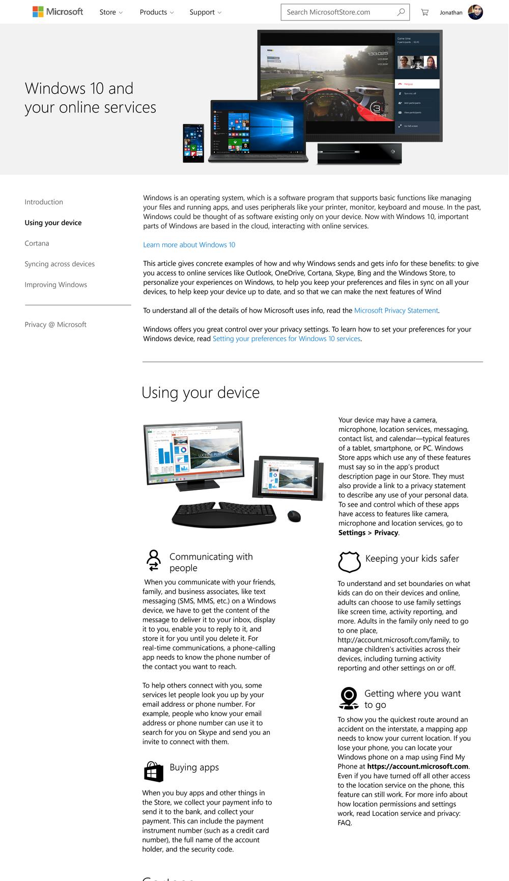 Windows 10 blog post