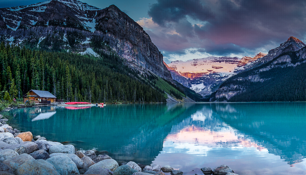 Lake Louise @ Sunrise, Alberta, Canada