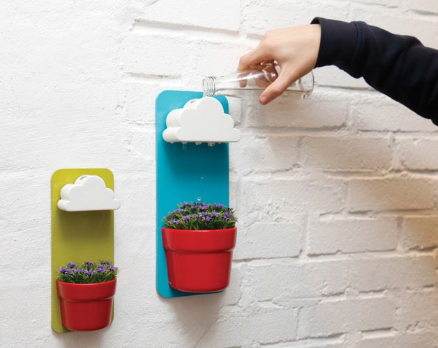 RAINY POTS KEEP PLANTS HAPPY + HEALTHY   Add a bright spot and touch of whimsy. Spring is on its way (eventually). Think I am going to order 10 of these right away.