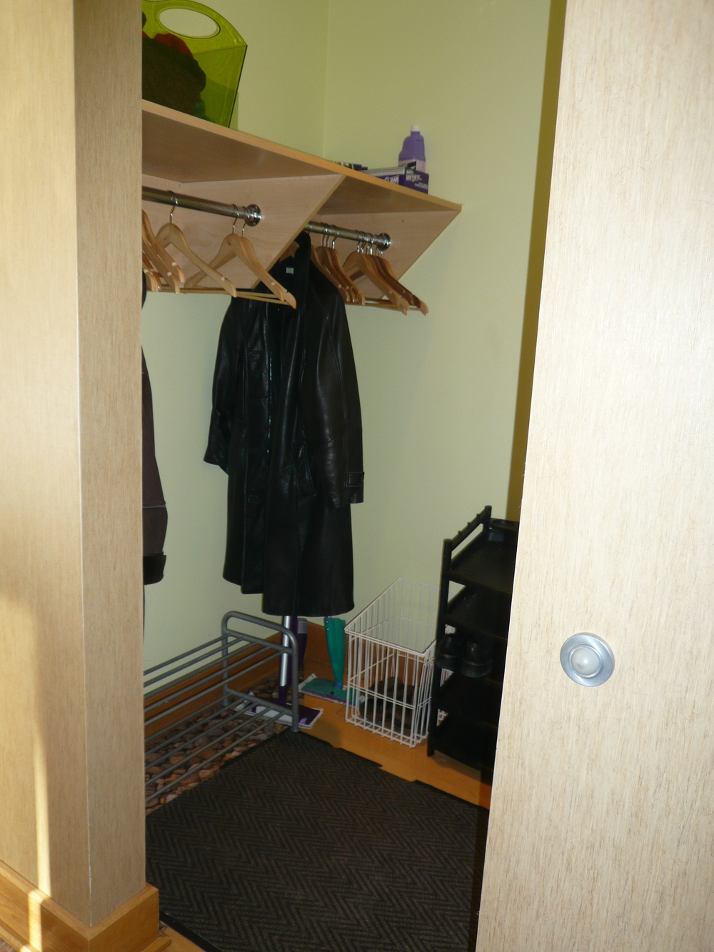 Sauna was created from a coat closet
