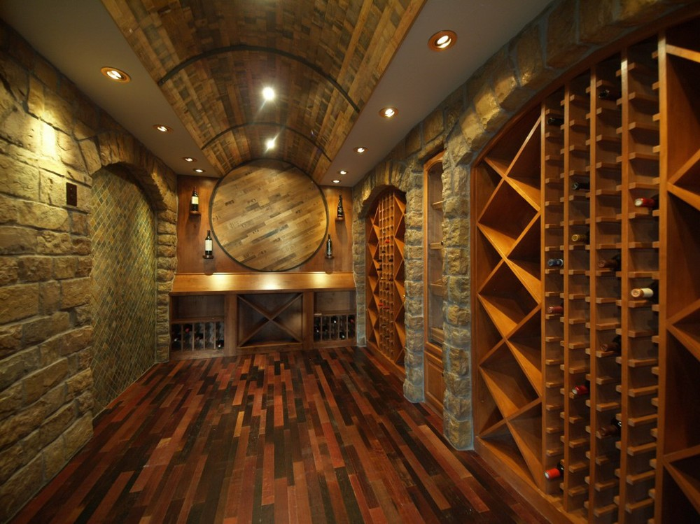Wine Infusion Flooring. This is made from the wood on the inside of the barrel and the colour is incredibly rich and vibrant.