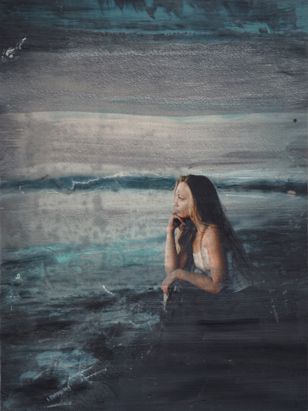 Encaustic Portrait by Leilanika Abalos