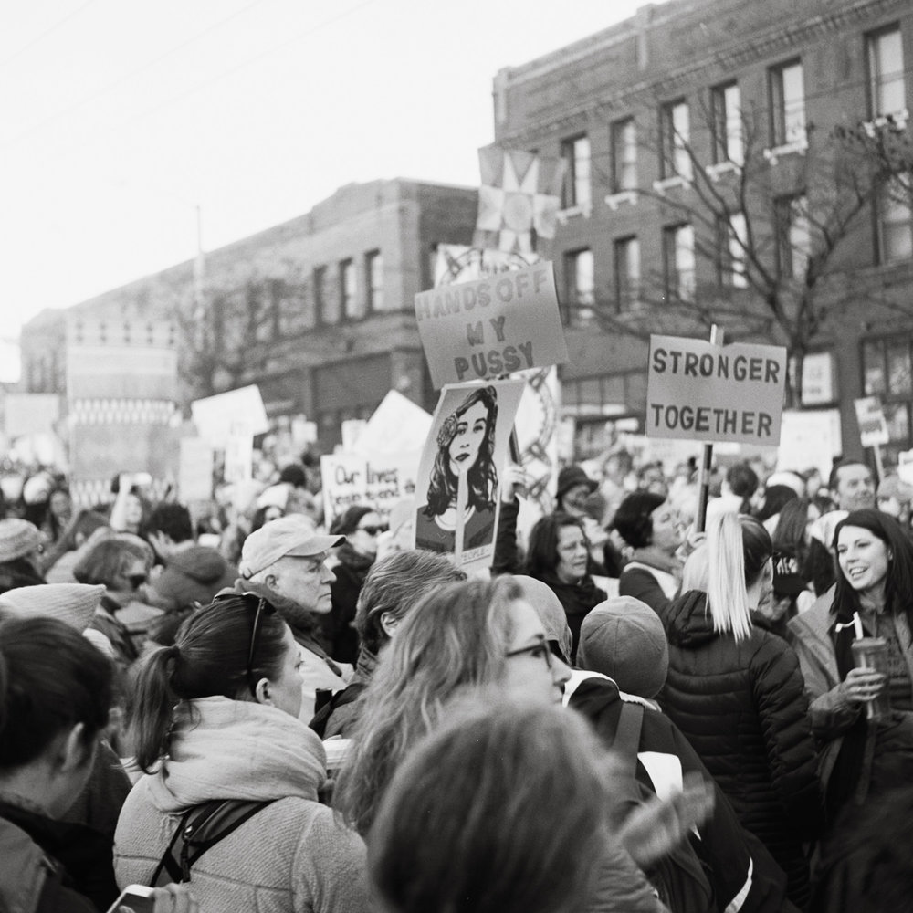 Seattle Women's March - Jan 2017 by Leilanika Abalos