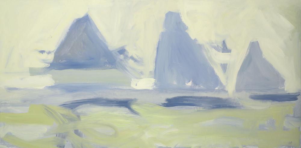 Rowayton  30 x 60 inches  Acrylic on canvas