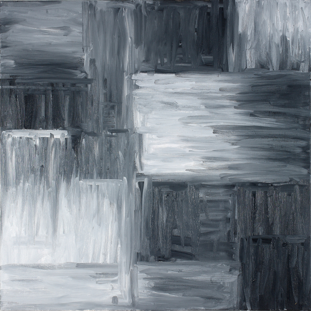 Binomial Cube II  30 x 30 inches  Oil on canvas