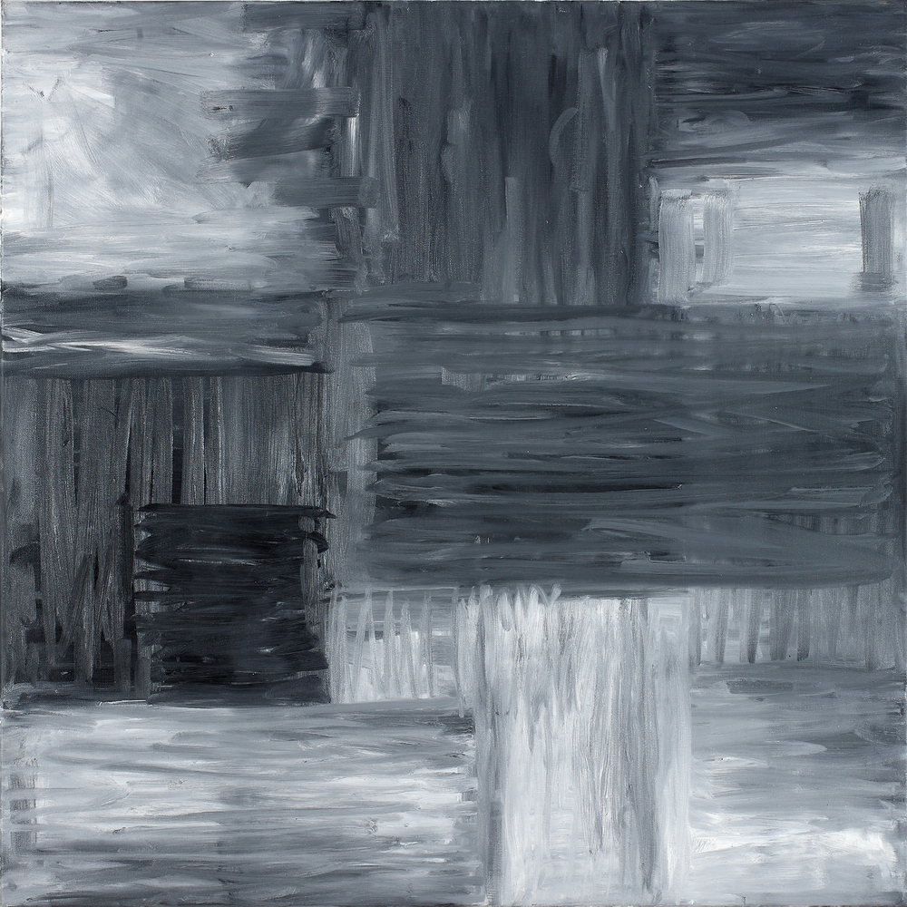 Binomial Cube III  30 x 30 inches  Oil on canvas