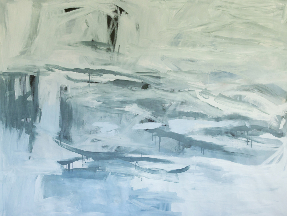 Blue Ice - sold  81 x 102 inches   acrylic on canvas