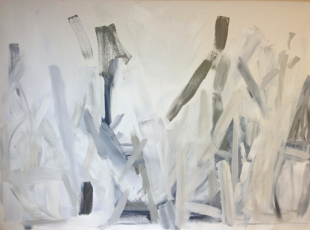 Sticks  80 x 110  inches   Acrylic on canvas