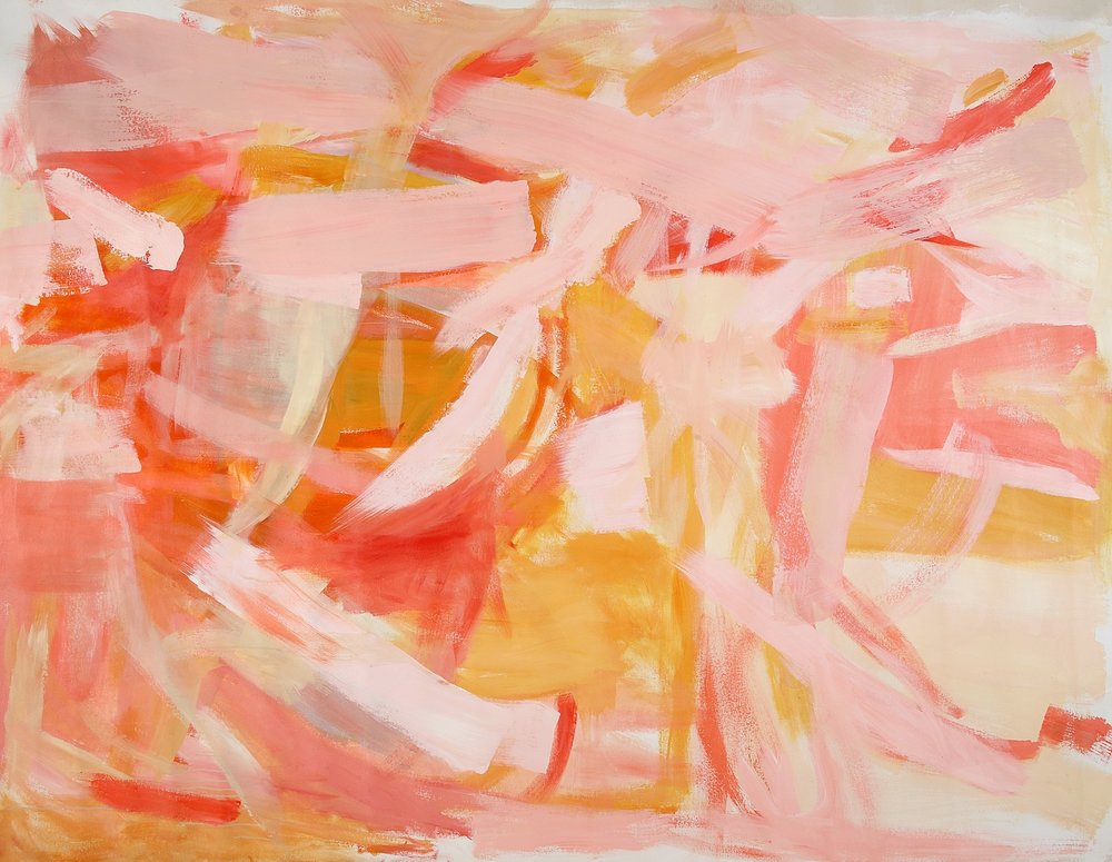 Orange  72 x 90  inches   Acrylic on canvas