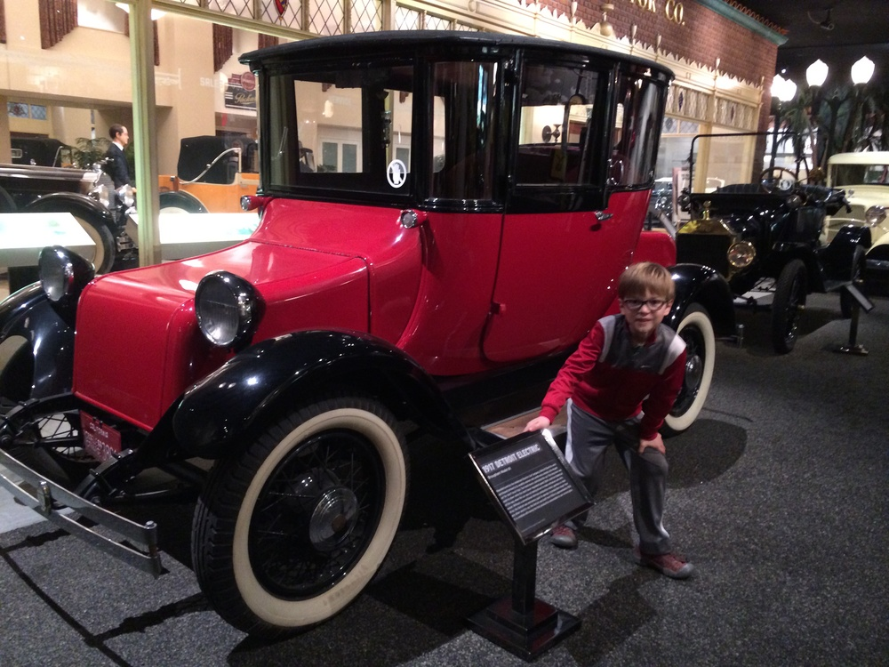 Elliot fell in love with the 1917 Detroit Electric - an all-electric car designed for affluent ladies, and the first to include curved glass.