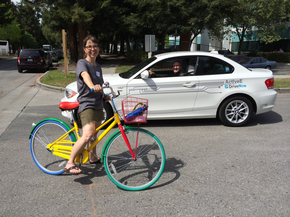 The only thing cooler than a BMW ActivE electric car is a Google Bike!