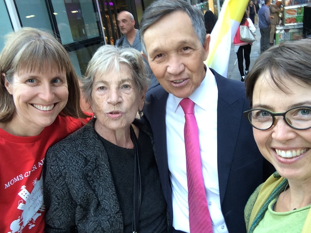 The Hon. Dennis Kucinich - with Linda Hutchins-Knowles, yours truly, and an unidentified Kucinich fan on Madison Ave.