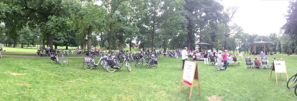 A music event in the park, Deventer, Netherlands. Average age of attendees: approx. 60