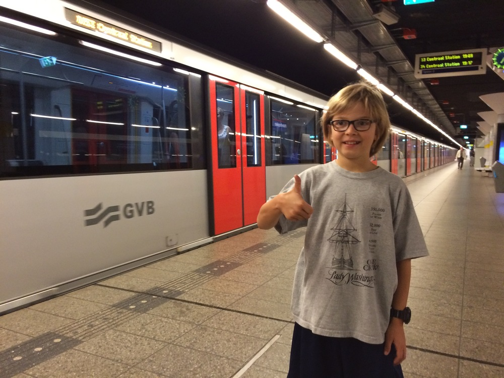 Elliot was thrilled to find out the city had an underground metro.