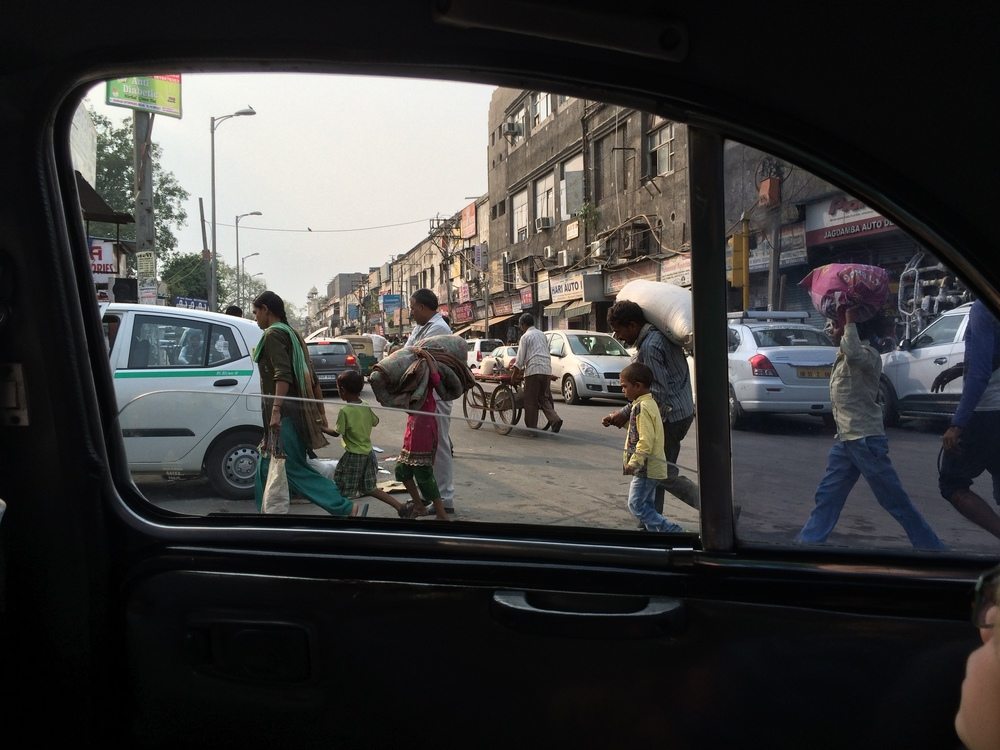 Street in front of the Old Delhi train station