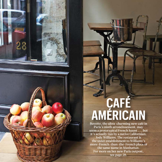 """The American-Owned Buvette Might Just Be Paris's Cutest New Bistro"",  Condé Nast Traveler December 2013"