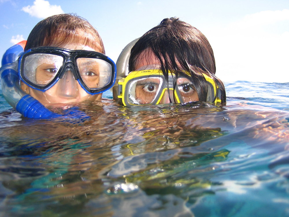 Snorkeling Kids Stock Image.jpg