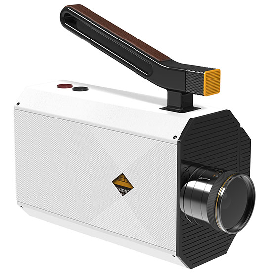 The process is designed to be as painless as possible from start to finish. Once you're done exposing the film (at 9, 12, 18, 24, or 25 fps), you send it back to Kodak, which will process it, scan it, and deliver it back to you as a digital copy and as an 8mm film that you can use in projectors.
