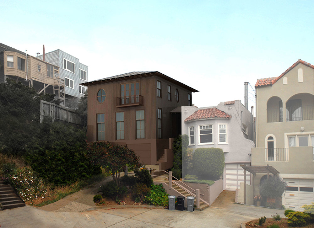 VALLEY STREET HOUSE     Location: San Francisco, California  Project Type: New Residence  Year of Completion: Unbuilt
