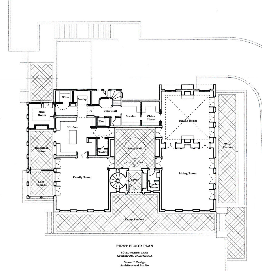 FORMAL HOUSE STUDY     Location: Atherton, California  Project Type: New Residence  Year of Completion: Unbuilt