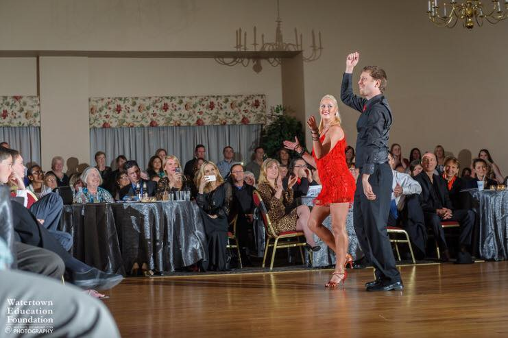 Watertown Education Foundation's Dancing with the Stars event, 2015