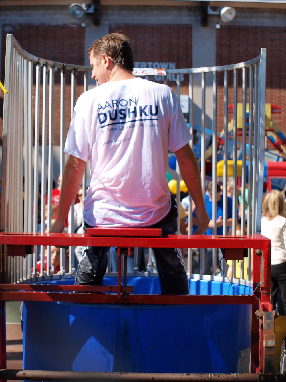 The Cunniff School PTO's dunk tank, 2013