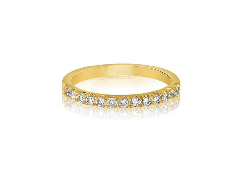W1015-1, 1/4 CT TDW 18K Yellow