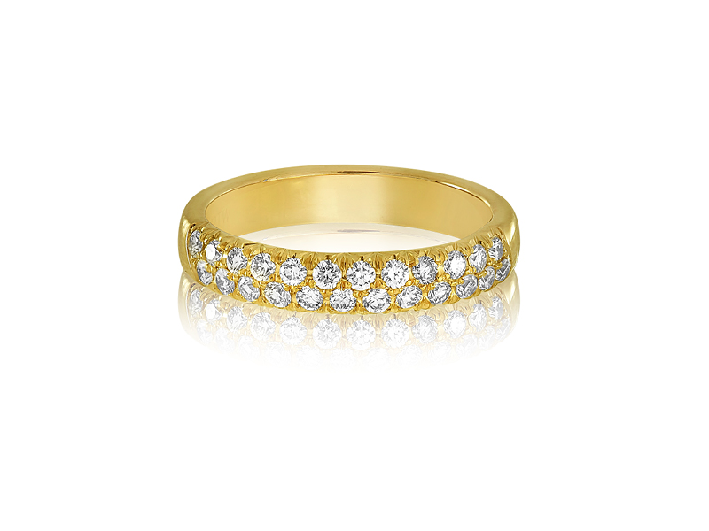 W1015-2, 1/2 CT TDW 18K Yellow
