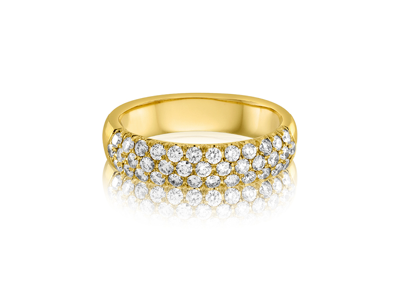 W1015-3, 3/4 CT TDW 18K Yellow