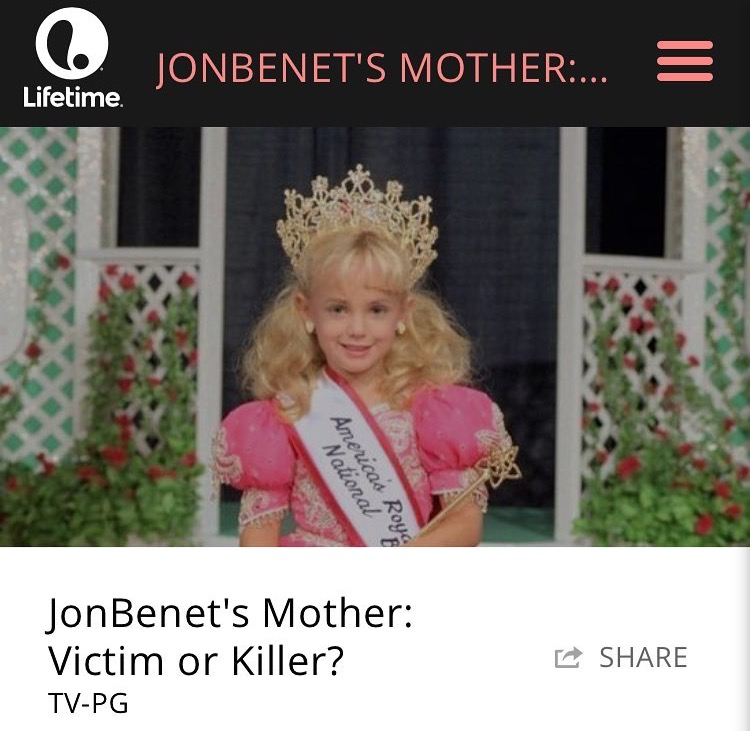 """Jon Benet's Mother: Victim or Killer?"" Hair/ Makeup/ Spfx"
