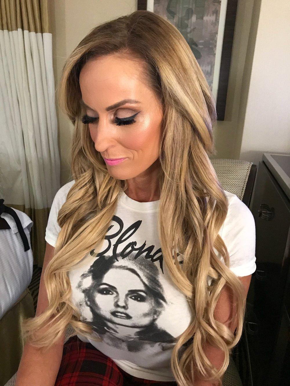Hair and Makeup on Dana Warrior