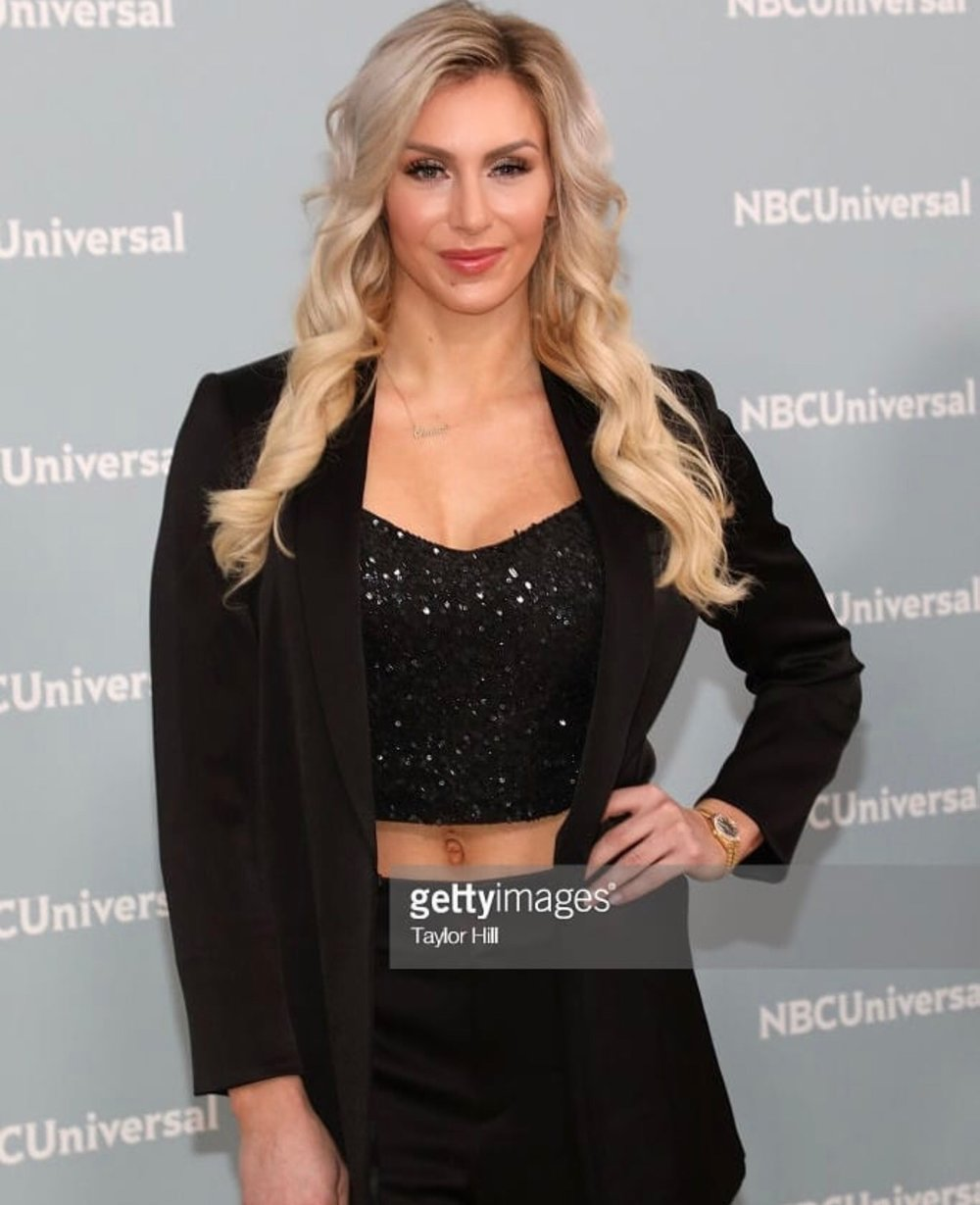 Charlotte Flair WWE for NBC Upfronts